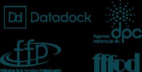 Logos datadock, dpc, ffp fffod